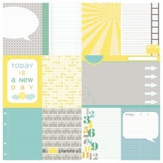 ScrapBerry's Double-Sided Paper 12x12 Inch 180 gsm, Everyday Once (SCB220604105b) - 1