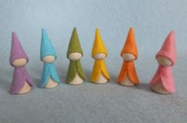 Regenboogkabouters Pastel, atelier Pippilotta