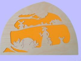 Wolf en zeven geitjes Silhouet, De Noest