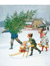 Winter en Kerstboom, Elsa Beskow