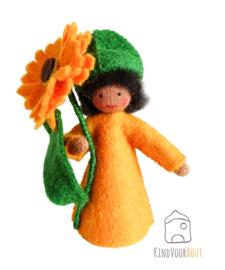 Oranje Calendula Viltpopje *2