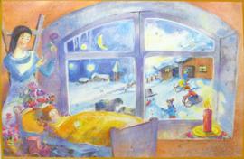 'Engel met de sneeuwhoed' adventskalender GROOT
