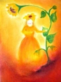 Kaart Het Zonnebloemvrouwtje, Baukje Exler