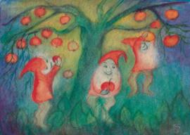 Dwergen bij de appelboom, Jula Scholzen- Gnad