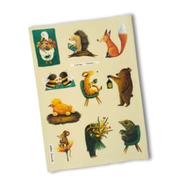 Stickervel Happy Days, Esther Bennink