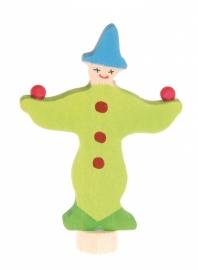 Jonglerende Clown Groen steker, Grimm's