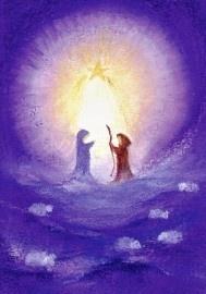 Jozef en Maria in het licht van de ster, Baukje Exler