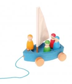 Land Zeilboot met vier mannetjes, Grimm's