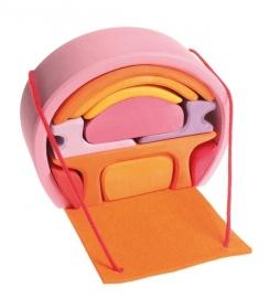 Mobiel Poppenhuis Roze-Oranje, Grimm's