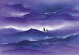 Jozef en Maria op weg
