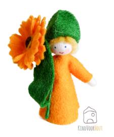 Oranje Calendula Viltpopje *1