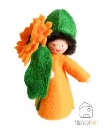 Oranje Calendula Viltpopje *3