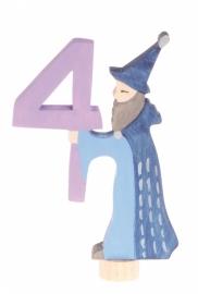Sprookjescijfer 4 steker Grimm's