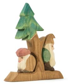 Dennenboom met dwergen, Ostheimer