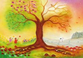 Poster 'Vierseizoenenboom' Baukje Exler
