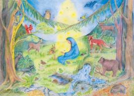 'Maria bezoekt de dieren' KLEIN