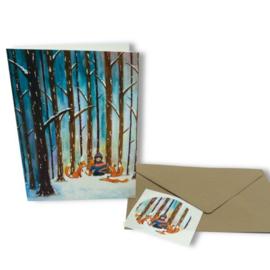 Knusse trui - dubbele kaart (excl. sticker, envelop optioneel), Esther Bennink