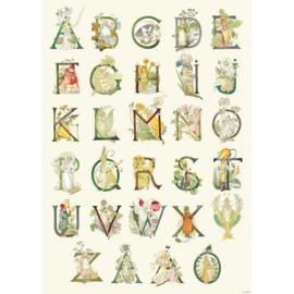 26 letterkaarten A t/m Z