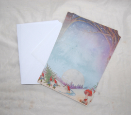 Briefpapier Winter, Waldorf Family