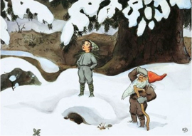 Kabouter in de sneeuw, Elsa Beskow