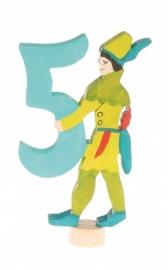 Sprookjescijfer 5 steker Grimm's