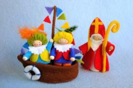 Sinterklaasbootje, exclusief Sint en Pieten, atelier Pippilotta