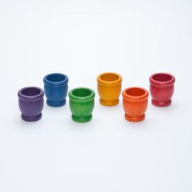 6 gekleurde potjes, Grapat