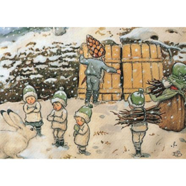 Kabouterkinderen in de winter, Elsa Beskow
