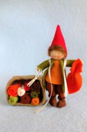 Kabouter Stoffeltje maakt herfstkleding, atelier Pippilotta