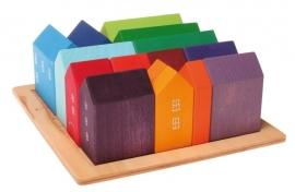 Gekleurde, kleine huisjes, Grimm's