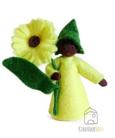 Gele Calendula Viltpopje *4
