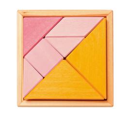 Tangram oranje/roze, Grimm's (incl. boekje)
