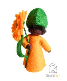 Oranje Calendula Viltpopje *4