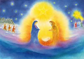 Poster A4 De geboorte van Jezus
