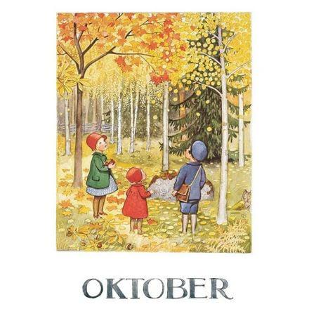 Maand Oktober, Elsa Beskow