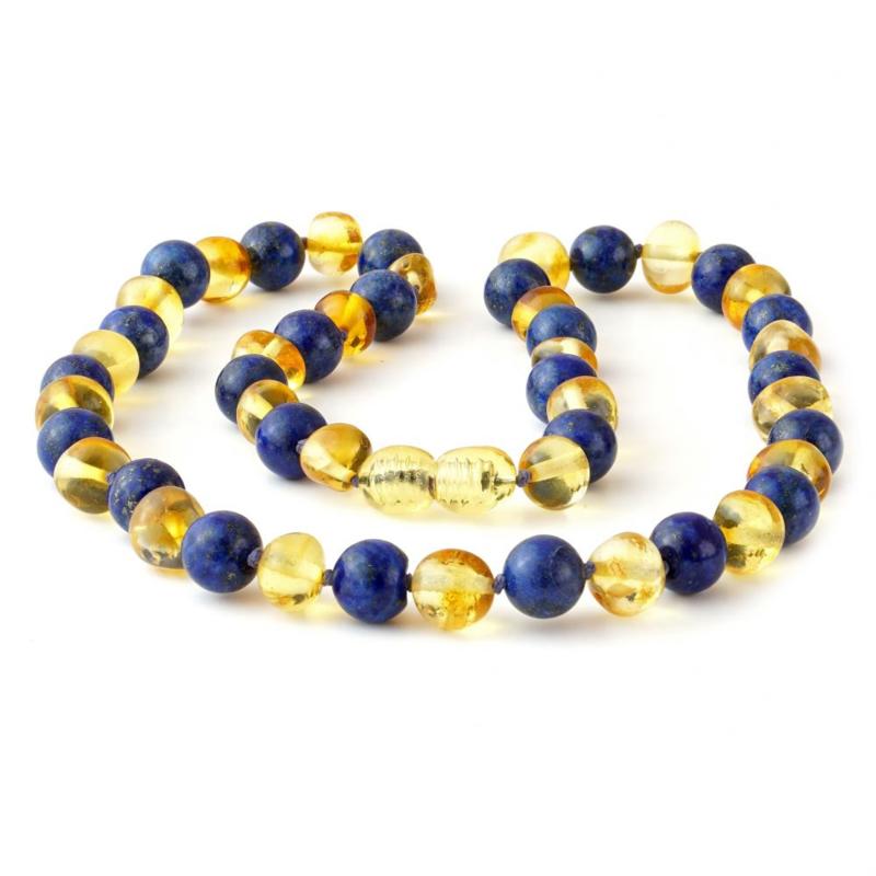 Ketting Barnsteen & Lapis Lazuli