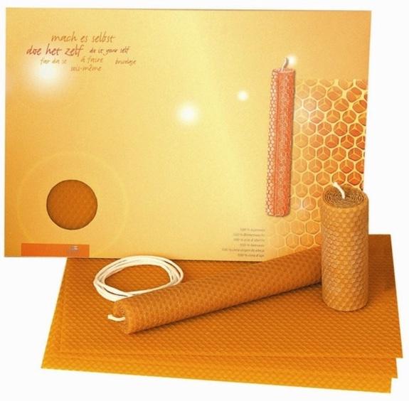 Kaarsen Rolpakket 100% bijenwas, Dipam