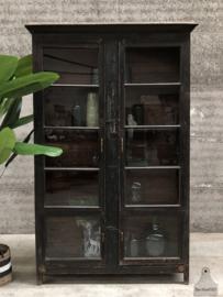 Hoge antieke vitrinekast XL (144468)