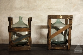 2 mandflessen in oude verpakking (132376)...verkocht