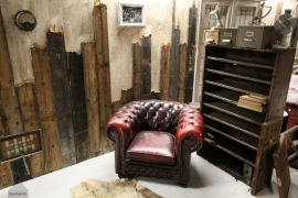Geleefde Chesterfield stoel (130679)..verkocht