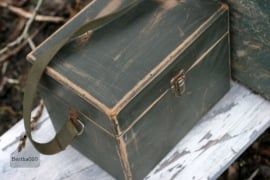 Oud groen kistje (130097) verkocht
