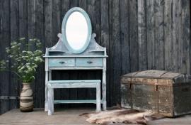 Geleefde kaptafel turquoise (130431)