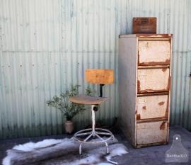 Geleefde industriële bureaustoel (131093)..verkocht