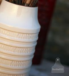 Vintage vaas, wit (130337) verkocht