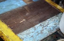 IJzeren dressoir  met 100% echt sloophout (131820)