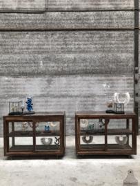 Glazen toonbank, vitrinekasten oud Engels (144513)