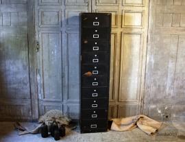 Oude kleppenkast zwart (132293).....verkocht