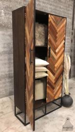 Visgraat 2-deurs kast ( 144006)