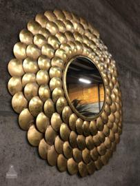 Spiegel XL goud  messing (143915) verkocht