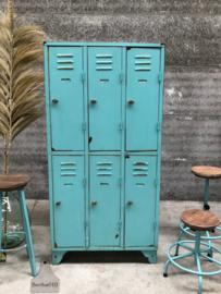 Turquoise 6-deurs locker (144313)